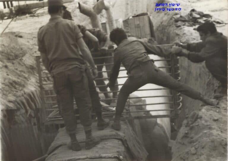 שקד שיפוץ מוצב פירדן ליד תעלת סואץ