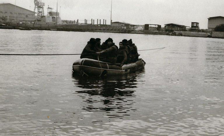 חצית תעלה בקישון בתרגולות צליחה 01.1970 בדרכת אימון לוחם אוגוסט 1969