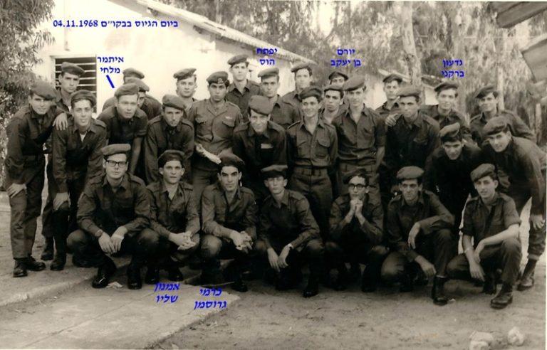ברקנייורם בן יעקביפתח הוסאיתמר מלחי ביום הגיוס בבקו ם 04.11.1968