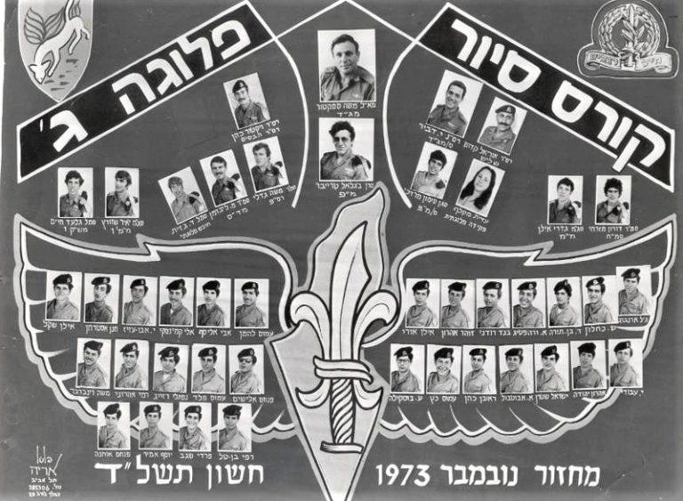 לוחם מחזור נובמבר 1973 בסיירת שקד